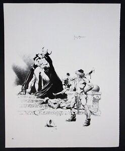 VTG Frank Frazetta Art Green Death Princess of Mars 1977 Nude Viking Warrior