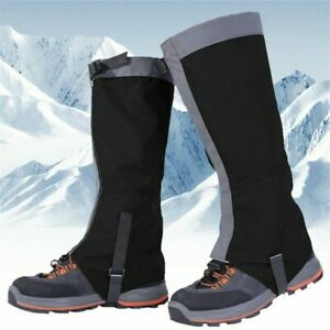 Outdoor Hiking Skiing Snow Waterproof Boots Cover Legging Gaiters Cover Climbing