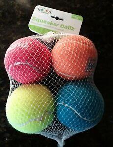 2019 Outward Hound Squeaker Ballz Dog Toy - 4 Pack ~ Brand New in Package