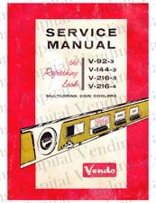 Vendo Service Manual - V92-3, V144-3, V216-3 (55 Pages) .Pdf Delivered by Email