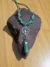 TreeSister Plant Trees Tree Charm with Green Aventurine Point and Chip Beads