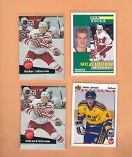 8) Nicklas Lidstrom 1991-92 Rookie Cards U.D,SCORE ,PINNACLE,PRO SET