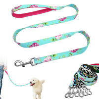 Floral Boho Dog Leads Clip with Mesh Padded Handle Pet Walking Leash 4ft/120cm