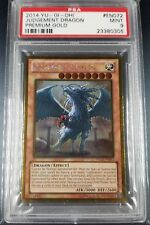 YuGiOh PSA 9 Judgment Judgement Dragon Unlimited Premium Gold PGLD-EN072 Ultra