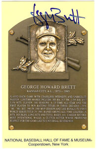 George Brett Autographed Signed HOF Postcard Kansas City Royals JSA W384138
