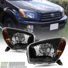 For 2001 2002 2003 Toyota RAV4 RAV-4 Black Edition Headlights Replace Headlamps