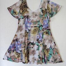 MAGNA softe Stretch Kleid Tunika Lagenlook A-Linie weiß bunt 48-50 (4)