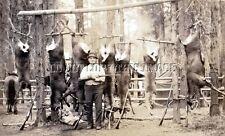ANTIQUE IDAHO MULE DEER HUNTING REPRO PHOTO WINCHESTER SAVAGE MODEL 99 RIFLES