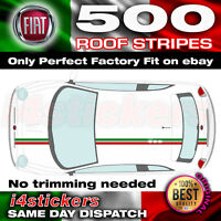 Fiat 500 Italian Flag Roof Stripes Set Car decals graphics bonnet boot stickers
