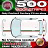 Fiat 500 Italian Flag Roof Stripes Set Car decals graphics bonnet boot stickers