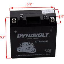 YT14B-BS DT14B-4 12V 12Ah AGM Battery for Yamaha1300/1700cc FJR1300 XV17AT/P Roa