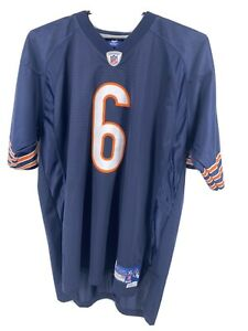 Chicago Bears Reebok On The Field Jay Cutler Blue Embroidered Jersey Mens sz XL