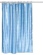 Slate Blue Shimmer Faux Silk Fabric Shower Curtain FSC15-FS/24