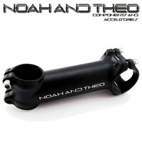 "Bicycle 110mm Stem 28.6mm or 1-1/8"" to 31.8mm Cycling Road Handlebar MTB BLACK"