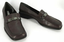 Bandolino Womens Loafers 6.5 Simmons Chocolate Brown Leather Horsebit Shoes New