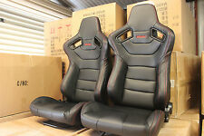 2 x Recaro seat Euro 2 in Ultra hard wearing PVC CARBON .Red stitching
