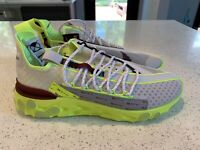 Nike React ISPA Sneakers Platinum Volt Running Shoes CT2692 002 Men's Size 9