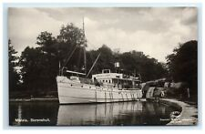 Postcard Motala Borenshult in Gota Canal in Sweden ship boat F39