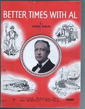 Good Times With Hoover Better Times With Al 1928 Sheet Music