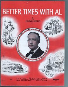 Better Times With Al 1928 Sheet Music