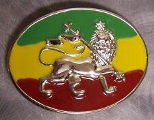 Pewter Belt Buckle National Flag of Ethiopia Lion of Judah NEW