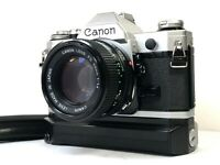 [Exc+5] Canon AE-1 SLR Body + Power Winder A2 + NEW FD 50mm f/1.4 NFD from JAPAN