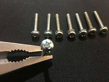 6-32 1 inch steel, zinc plated phillip's pan head screws w/washer, quantity 8