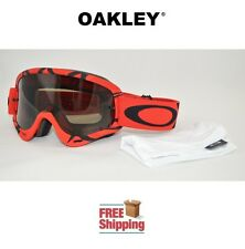 OAKLEY® O-FRAME® GOGGLES MX ATV MOTOCROSS MOTORCYCLE INTIMIDATOR RED BLACK TINT