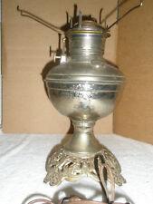 Vintage Oil/Kerosene Table Lamp Converted to Electric Metal Works