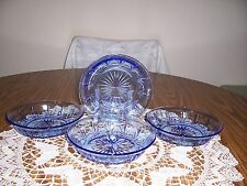 Avon American Blue Classics Collection Four Cereal Bowls