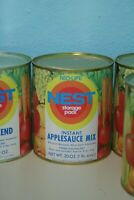Vintage 1970s Neo-Life NEST Instant Applesauce Mix Can Full Unopened Storage