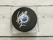 Andrej Sekera Signed Autographed Edmonton Oilers Hockey Puck a
