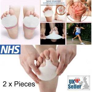 2 x Gel Metatarsal Sore Ball Pads Forefoot Insoles Foot Pain Support Cushions