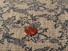 COTTON QUILTING SEWING FABRIC BY THE HALF YARD BLUE FLORALS ON OFF WHITE