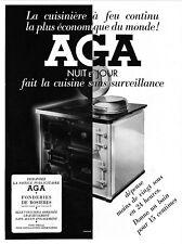 *** AGA _ Cuisinière à feu continu *** 1937 - pub. (25 x 33,5) // p586