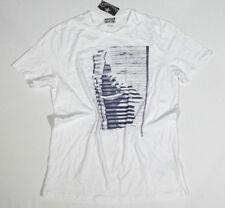 Nuovo All Star Converse T-Shirt Uomo Maglietta Mandrini Bianco TG. M 18 #232