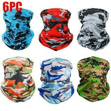 6PC UV Protection Face Mask Neck Gaiter Scarf Sunscreen Windproof Breathable AU