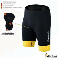 Didoo Men's Cycling Shorts Padded Baselayer Pants Skin Fit Gym Bike Underwears