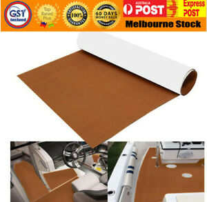 EVA Boat Decking Marine Deck Flooring Carpet With Adhesive 90x240cm Brown
