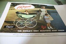 Vintage Royale  coach built pram catalogue images  1957- 1962
