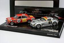 Minichamps 1/43 - Mercedes SLS GT3 AMG 24H Dubaï 2011 et 300 SEL AMG SPA 1971