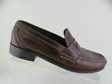 JOHNSTON & MURPHY Brown Sz 8.5 M Men Leather Penny Loafers