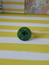 Green Button Adjustable ring