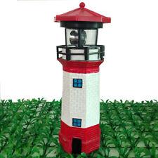 LED Solar Bulb Light Garden Lighthouse Beam Beacon Patio Lamp Decor Gift UK