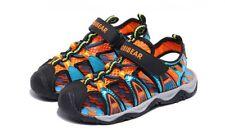 Boys Black & Orange Beach Sandal