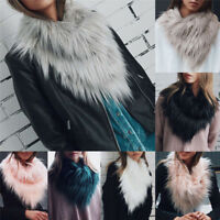 Women  Scarf Shawl Wrap Neck Winter Vogue Long LadyFox Fur Collar Warmer TSUS