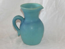 "Vintage Van Briggle Art Pottery Pitcher Turquoise 6"" Blue EXC"