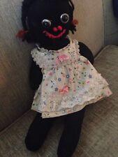 Vintage Old Black Americana cloth sock doll orig clothing primitive folk art