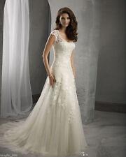 New White/Ivory Bridal Gown Wedding Dress Custom Size 4-6-8-10-12-14-16-18-20+