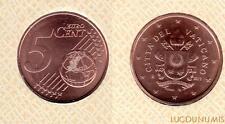 Vatican 2017 – 5 Centimes d'Euro – 70 000 exemplaires Provenant du coffret BU RA